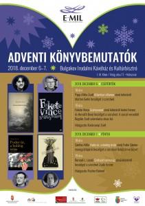 E-MIL adventi konyvbemutatok 2018 plakat